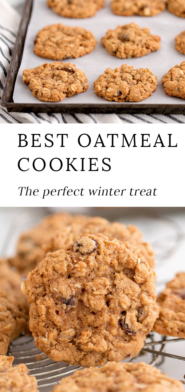 Warm, soft cookies fresh from the oven are the perfect winter treat! Shared below is an easy recipe for the best oatmeal cookies.These chewy homemade cookies taste like a cozy, blanket-wrapped afternoon and make your home smell deliciously of vanilla, cinnamon, and cloves. #oatmeal #cookies via @firefliesandmudpies
