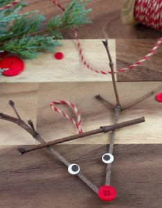 Twig reindeer ornaments are the perfect christmas nature craft for school or home this ornament also rh firefliesandmudpies