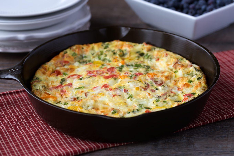 Cheese and Veggie Egg Bake