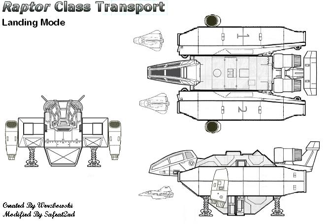 Raptor Class Transport: Landing Mode by safeat2nd