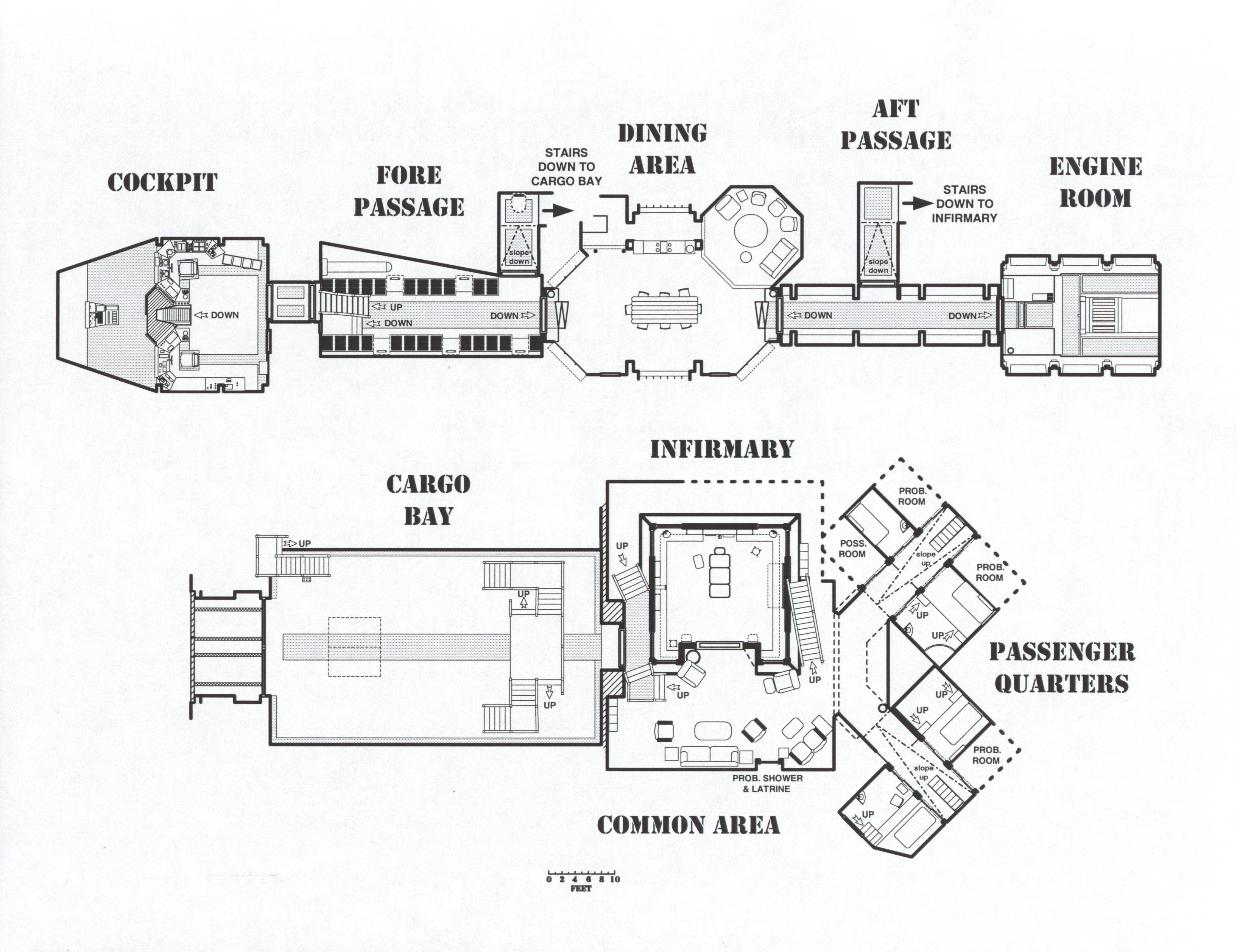 Serenity Deckplans to Scale (1) by gaidheal