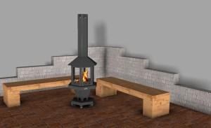 Terassenfeuer mit Grillfunktion