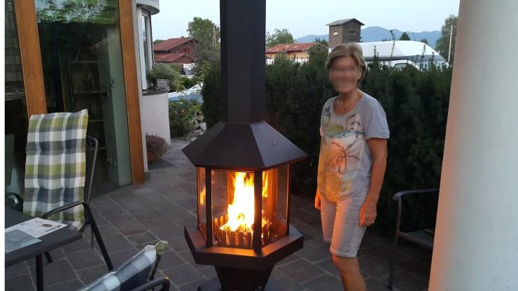 Terrassenkami Gartenkamin
