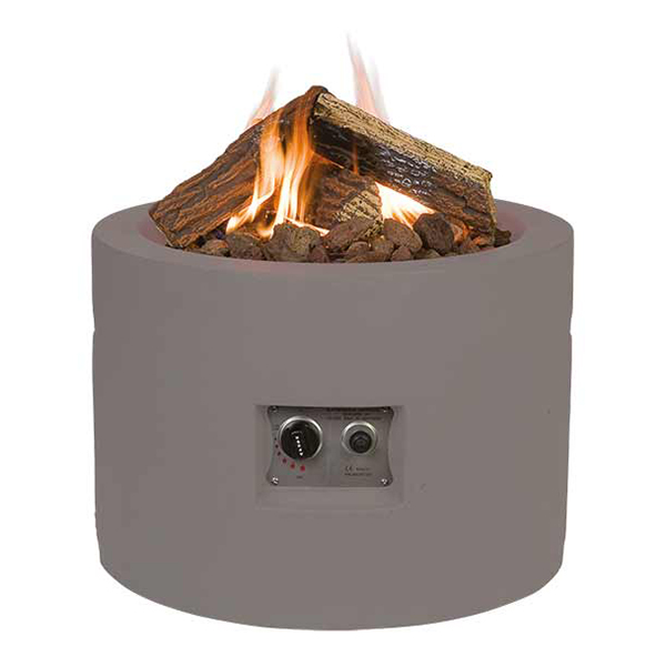 Cocoon Round Taupe Gas Fire Pit