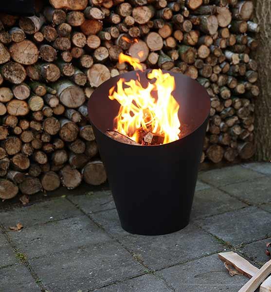 Morso Fire Pot shown in Black