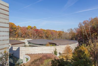 Crystal Bridges in Fall by Gordon