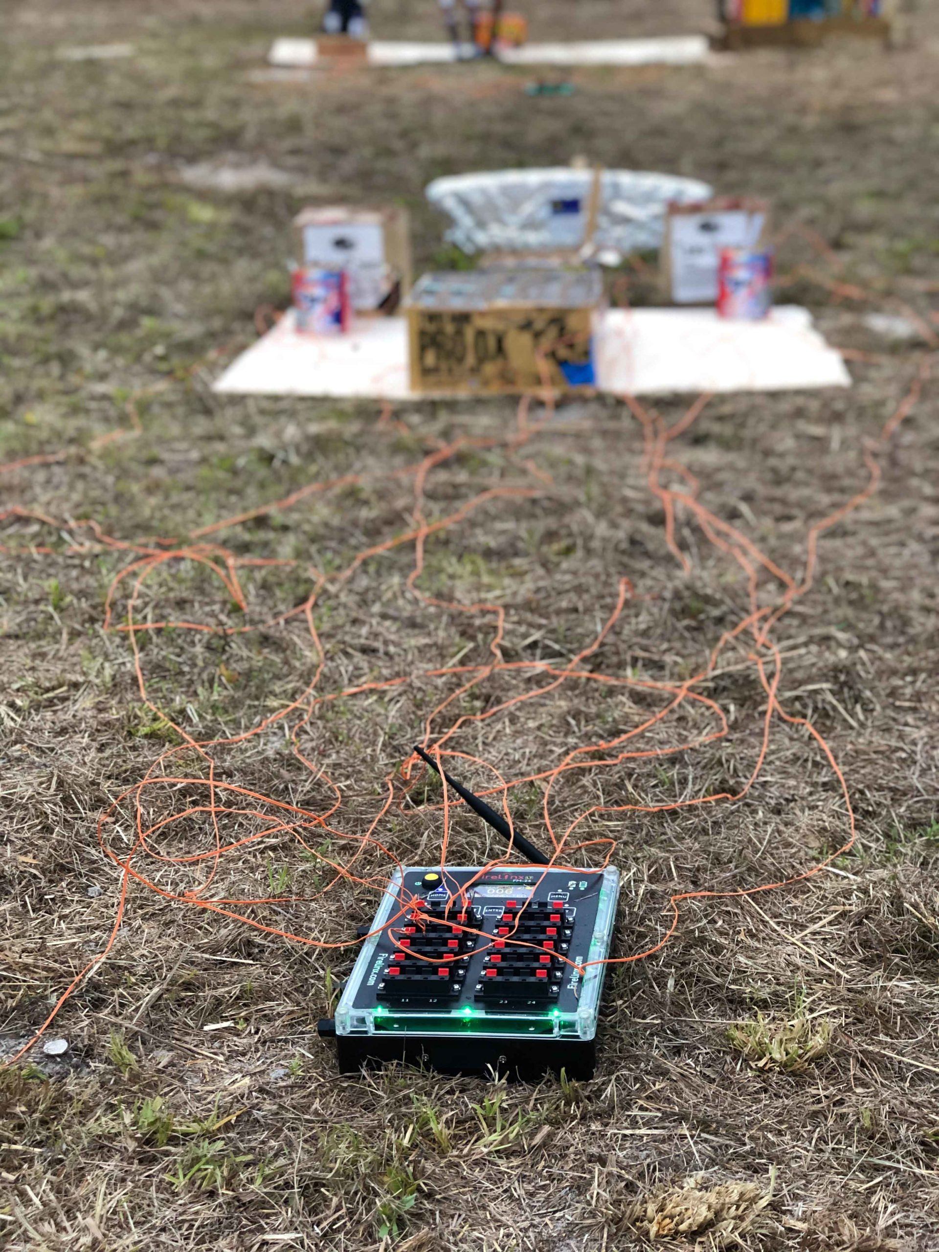 2020 Memorial Day setup- Twisted Missile Fireworks - Firelinx