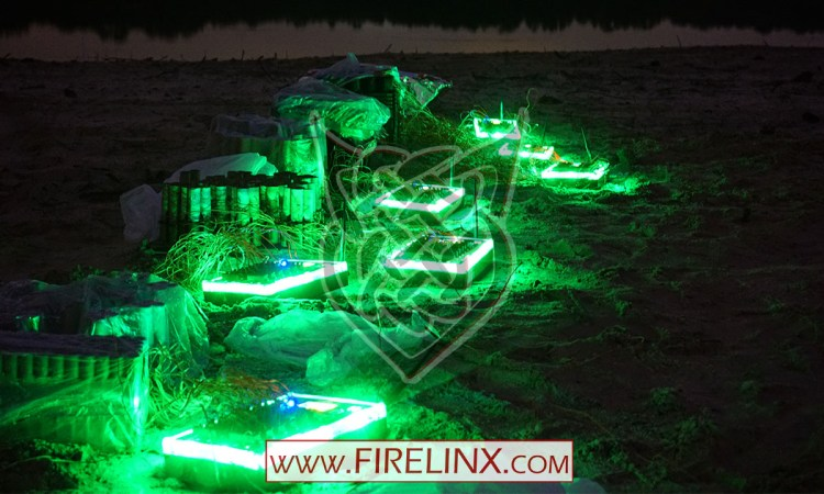 Firing Modules illuminate the night in Safe Mode- Firelinx