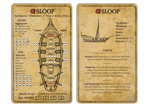 Sloop Card