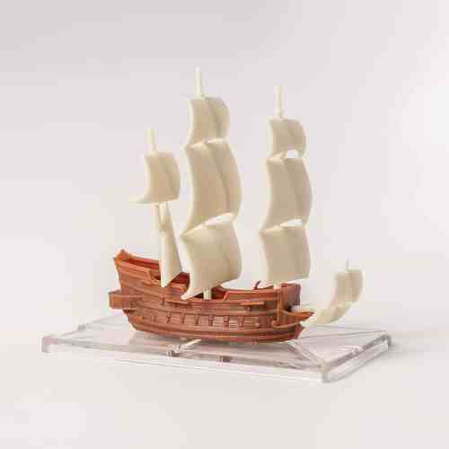 Unpainted Plastic Galleon