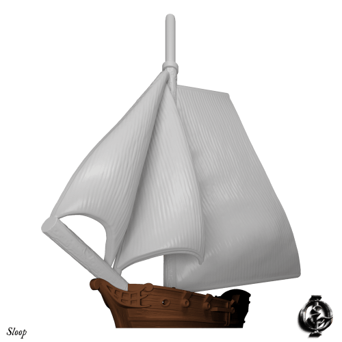 Oak & Iron, Sloop 3D Render