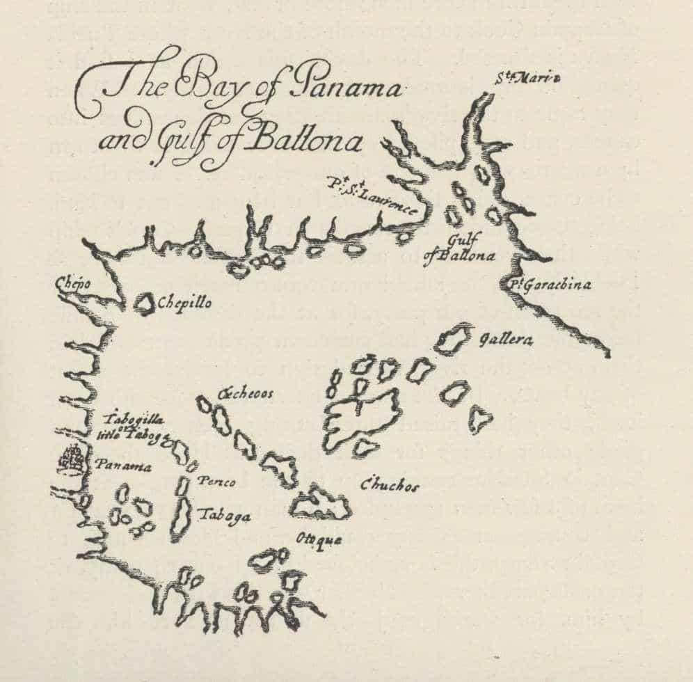 The Bay of Panama, from The Buccaneers of America, 1684.