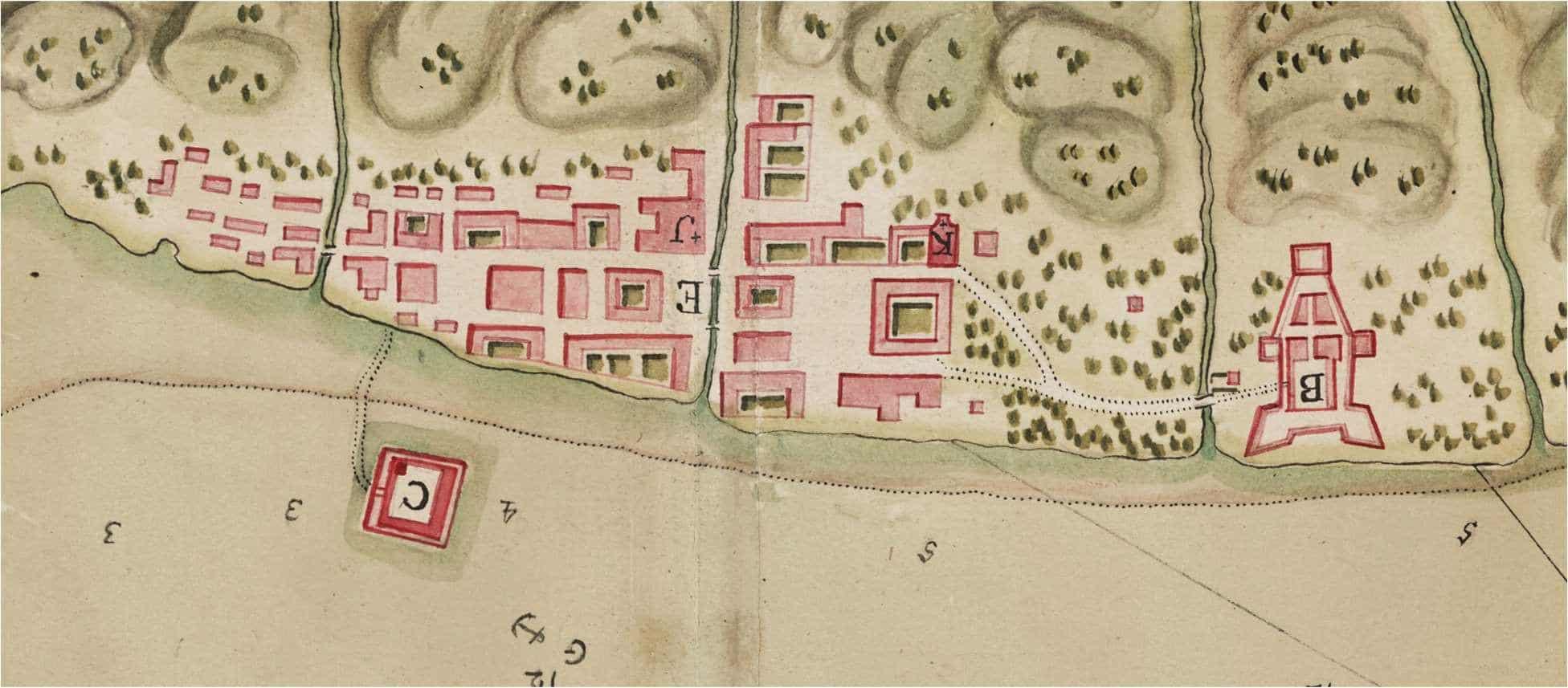 Portobelo circa 1740, little changed from 1680.