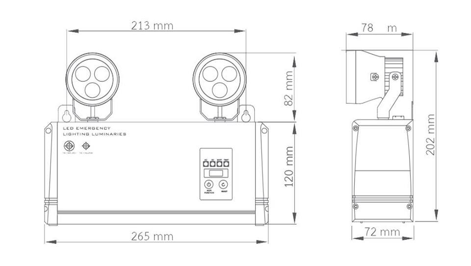 LED EMERGENCY LIGHT Model LD-100 ยี่ห้อ DINO