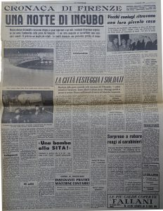 """Tratto da """"La Nazione"""" del 4 novembre 1966 Una notte da incubo"""