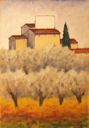 Quadro di Ottone Rosai Campagna Toscana  Pittori