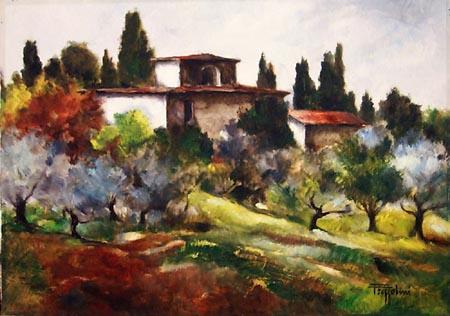 Quadro di Gianfranco Frezzolini casolare toscano