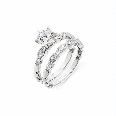 56ct Simon G Diamond Antique Style Platinum Engagement