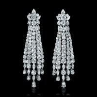 18.75ct Diamond 18k White Gold Chandelier Earrings