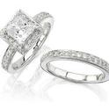 Diamond 14k Gold and Black Rhodium Eternity Engagement
