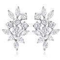 2.29ct Diamond 18k White Gold Cluster Earrings