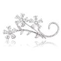 3.05ct Diamond 18k White Gold Brooch Pin