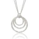 .41ct Diamond Antique Style 14k White Gold Pendant Necklace