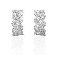 2.37ct Diamond 18k White Gold Huggie Earrings