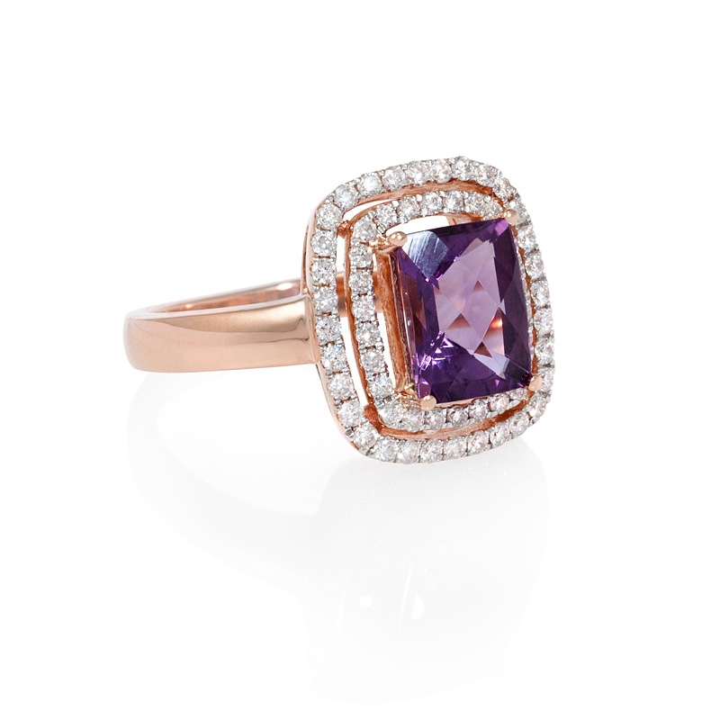 Amethyst Ring: Amethyst Ring Rose Gold