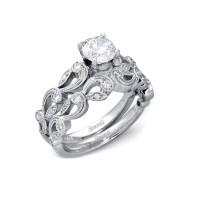 .33ct Simon G Diamond Antique Style 18k White Gold ...
