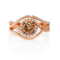 .90ct Le Vian Chocolate Diamond 14k Strawberry Gold Ring