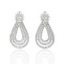 7.37ct Diamond and Tanzanite 18k White Gold Dangle Earrings