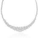 5.93 ct Diamond 18k White Gold Tennis Necklace
