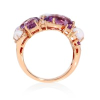 Rose Gold Ring: Rose Gold Ring With Amethyst