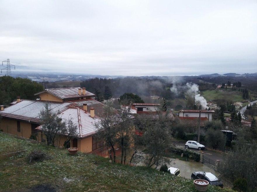 Pioggia e neve oggi nei dintorni di Firenze (Foto Riccardo Maremmi)