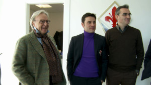 Vincenzo Montella con Diego Della Valle e il manager Eduardo Macìa