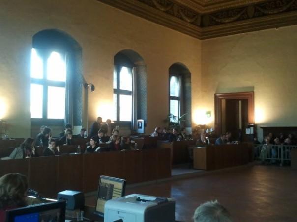Accesa discussione oggi nel Salone dei Duecento di Palazzo Vecchio