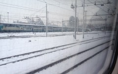 Neve sulle colline di Firenze. Code in autostrada