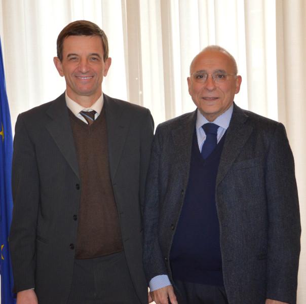 Da sinistra il rettore Alberto Tesi e  Giampaolo Muntoni, nuovo Garante dei Diritti dell'Università degli Studi di Firenze