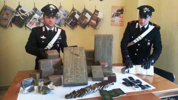 Settanta chili di hashish sono stati trovati nell'appartamento nei pressi di Empoli
