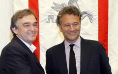 Il governatore Enrico-Rossi e Vincenzo Manes