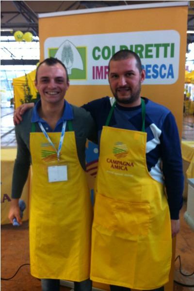 Da sinistra Marco Olivieri e Paolo Russo, i pescivendoli