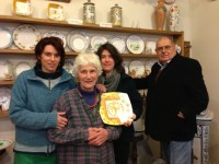 La famiglia Sbigoli: da sinistra Lorenza, Antonella, Chiara e Valentino