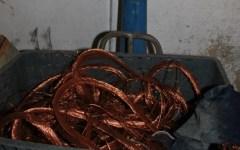 Scoperto maxi deposito di rame rubato