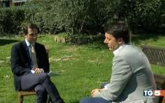 Matteo Berti intervista Matteo Renzi per il Tg5