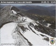Neve all'Abetone (foto webcam Abetone)