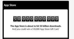La Apple festeggia 50 miliardi di applicazioni scaricate