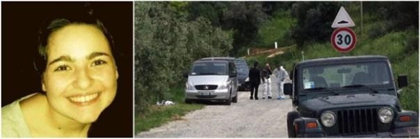 Ilaria e il luogo del ritrovamento del cadavere a Castagneto