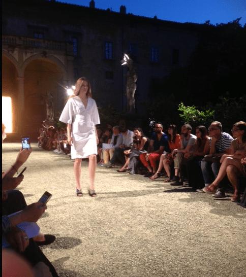 Un momento della sfilata di Damir Doma nel Giardino di Villa Corsini