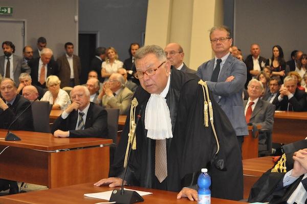 Il Procuratore Generale di Firenze Tindari Baglione durante il suo intervento stamani a Palazzo di Giustizia